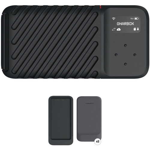GNARBOX 2.0 SSD 1TB Rugged Backup Device with Dual Battery Charger and Two Batteries Digital Media GNARBOX