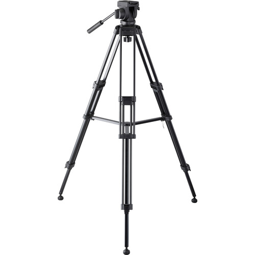 Libec 650EX Tripod System with Mid-Level Spreader (65mm Ball) Pro Video Libec