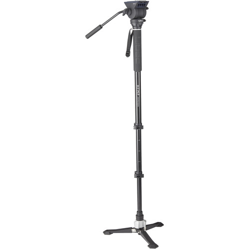 Libec Hands-Free Monopod Kit with TH-X Pan-and-Tilt Video Head and Bowl Clamp Monopods & Accessories Libec