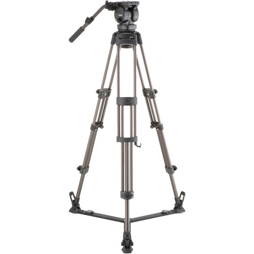 Libec LX10 Two-Stage Aluminum Tripod System and H65B Head and Ground-Level Spreader Pro Video Libec