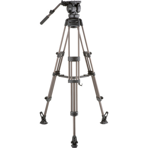Libec LX10 M Two-Stage Aluminum Tripod System and H65B Head and Mid-Level Spreader Pro Video Libec