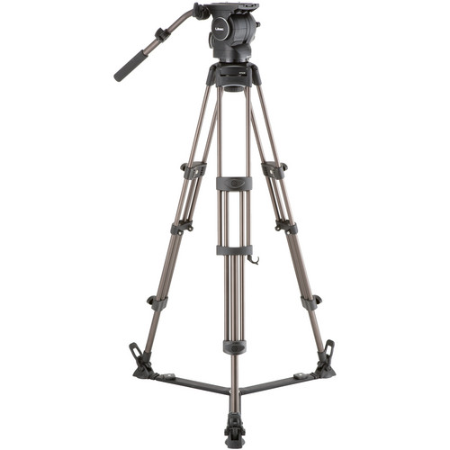 Libec RSP-750 Professional Aluminum Tripod System with Floor-level Spreader for ENG Setups Pro Video Libec