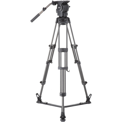Libec RSP-750C Professional Carbon Piping Tripod System with Floor-level Spreader for ENG Setups Pro Video Libec