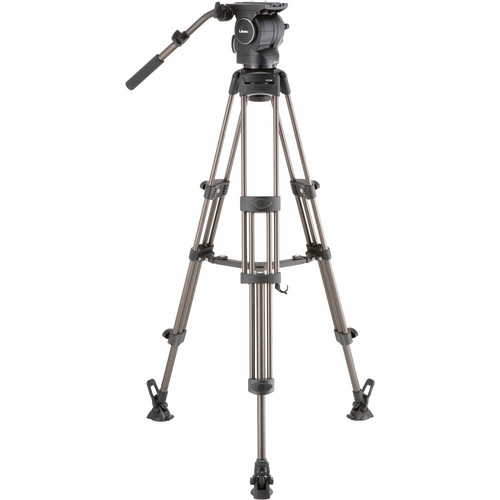Libec RSP-750M Professional Aluminum Tripod System with Mid-level Spreader for ENG Setups Pro Video Libec