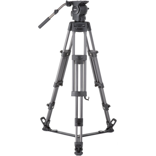 Libec RSP-850 Professional Aluminum Tripod System with Floor-Level Spreader Pro Video Libec