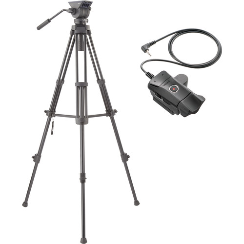 Libec TH-X Video Tripod System with ZFC-L LANC Remote Control Pro Video Libec