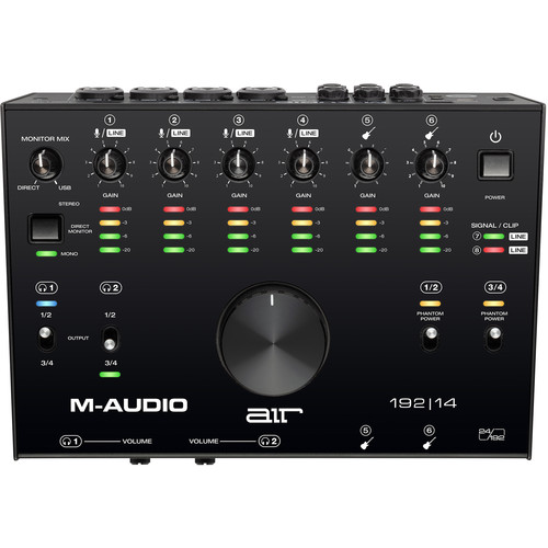 M-Audio AIR 192|14 USB 8×4 Audio Interface with MIDI Field Mixers, Preamps & Accessories M-Audio