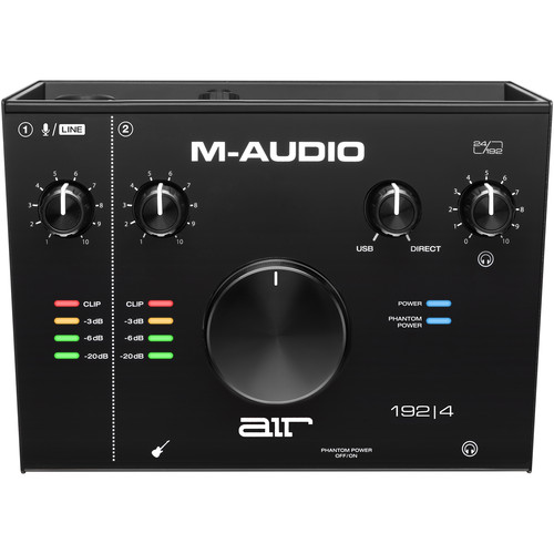 M-Audio AIR 192|4 USB 2×2 Audio Interface Field Mixers, Preamps & Accessories M-Audio