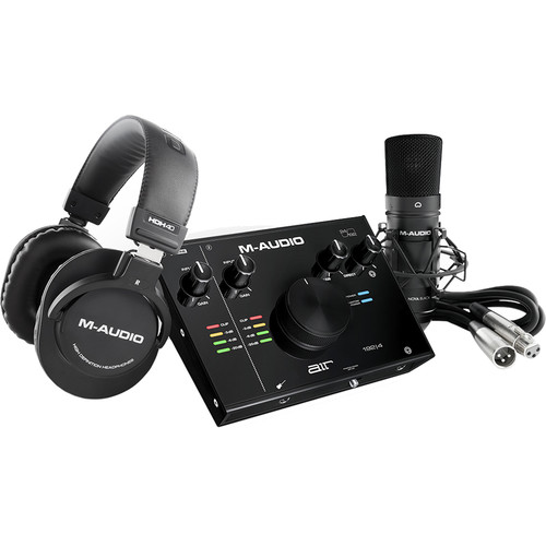 M-Audio Air 192 | 4 Vocal Studio Pro Pack with 2×2 Audio Interface, Mic, Headphones Field Mixers, Preamps & Accessories M-Audio