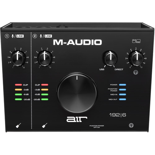 M-Audio AIR 192|6 USB 2×2 Audio Interface with MIDI Keyboard, Surface & Pad Controllers M-Audio