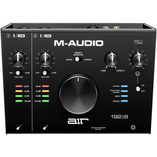 M-Audio AIR 192|8 USB 2×4 Audio Interface with MIDI Field Mixers, Preamps & Accessories M-Audio