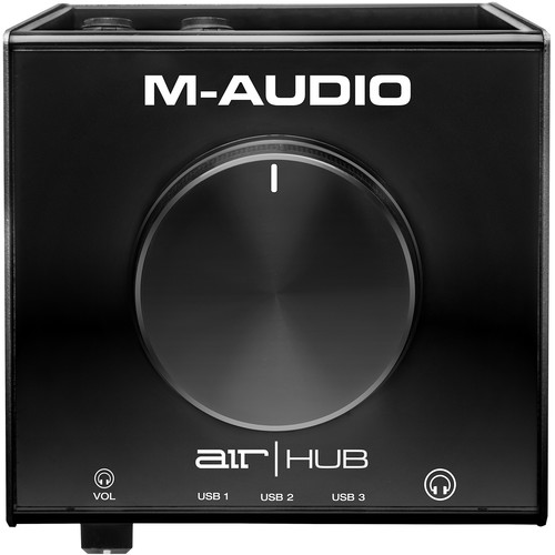 M-Audio AIR | Hub Desktop USB Monitoring Interface with Built-In 3-Port Hub
