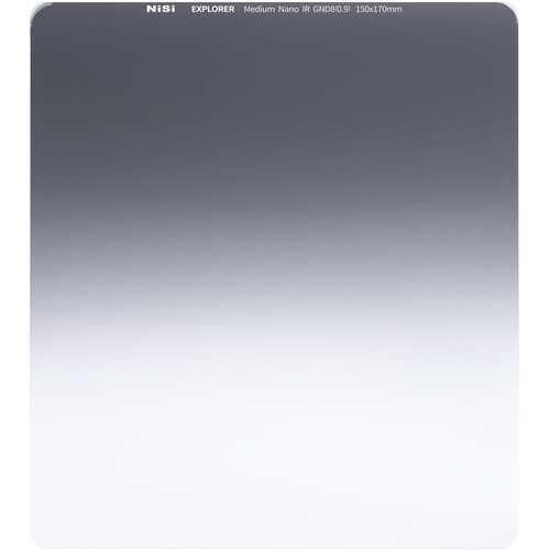 NiSi Nisi Explorer Collection 150x170mm Nano IR Medium Graduated Neutral Density Filter – Gnd8 (0.9) – 3 Lens Accessories NiSi