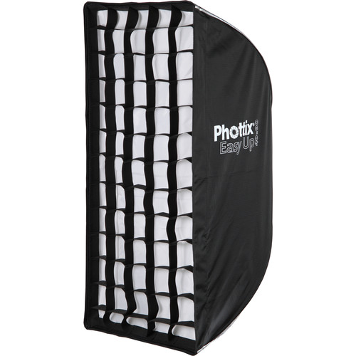 Phottix Easy Up HD Umbrella Softbox with Grid (16 x 35″) Light Modifiers Phottix