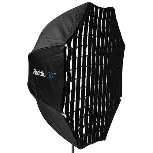 Phottix Easy Up HD Umbrella Extra Large Octa Softbox with Grid (47″) Light Modifiers Phottix