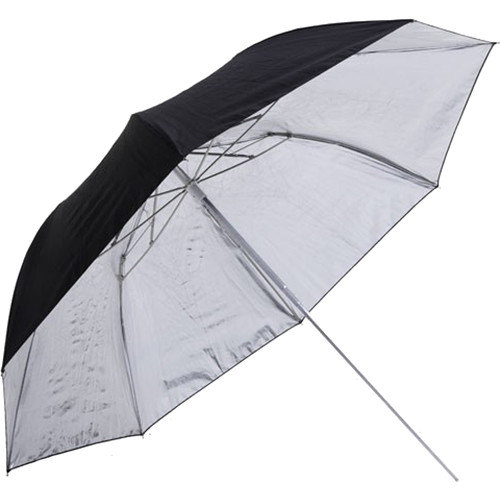 Phottix Double-Small 36″ Folding Reflective Umbrella (Black /Silver) Light Modifiers Phottix