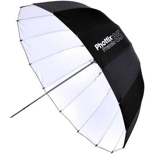 Phottix Premio Reflective Umbrella (White Interior, 33″) Light Modifiers Phottix