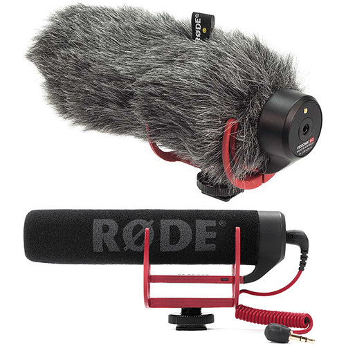 Rode VideoMic GO Camera-Mount Shotgun Microphone Kit with DeadCat GO Windshield Audio Wired Shotgun Mics ENG/EFP