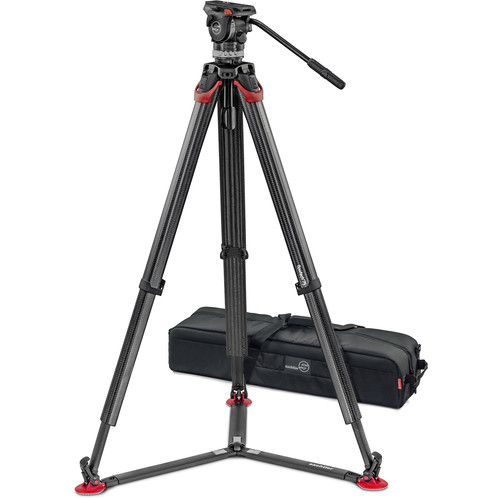 Sachtler Ace XL Fluid Head with flowtech 75mm Carbon Fiber Tripod & Carry Handle Kit Pro Video Sachtler