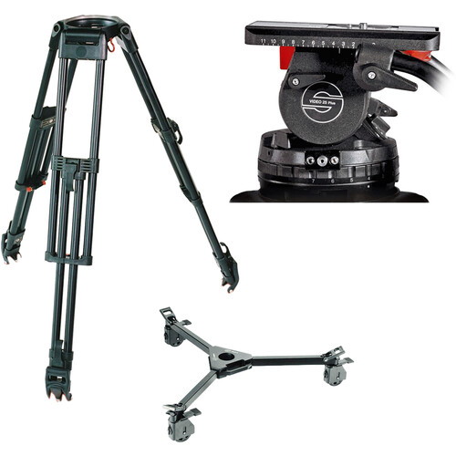 Sachtler System 25 EFP 2 with Dolly (150mm Bowl) Pro Video Sachtler