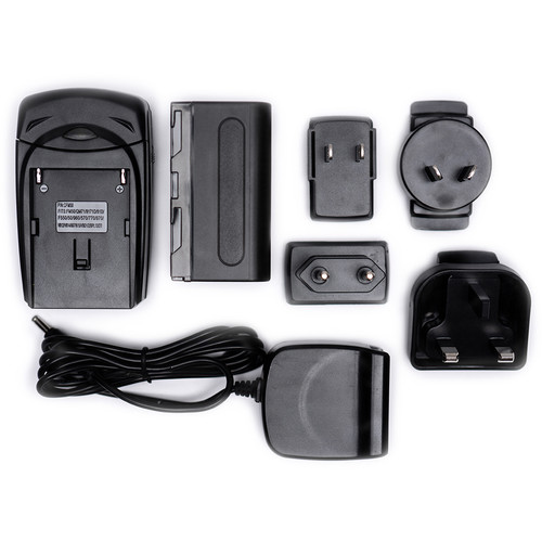 SmallHD Battery & Charger Kit with 4 International AC Plugs Monitor Batteries, Power & Other Accessories SmallHD