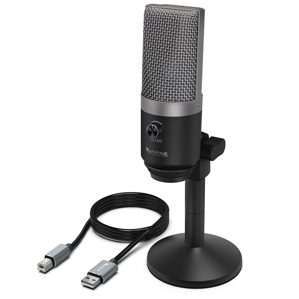 FIFINE K670 USB Mic with a Live Monitoring Jack for Streaming Podcasting on Mac/Windows Pro Audio FIFINE