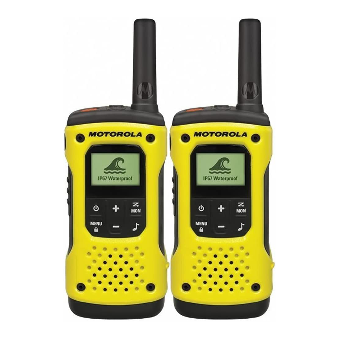 Motorola TLKR T92 H2O Walkie-Talkies – Yellow 2-Way Radios Motorola
