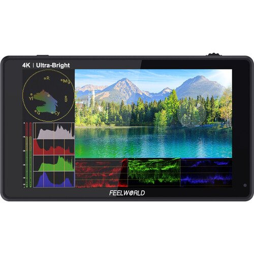 FeelWorld LUT6S 6″ 2600 cd/m² 4K HDMI/3G-SDI Touchscreen Monitor Monitors FEELWORLD