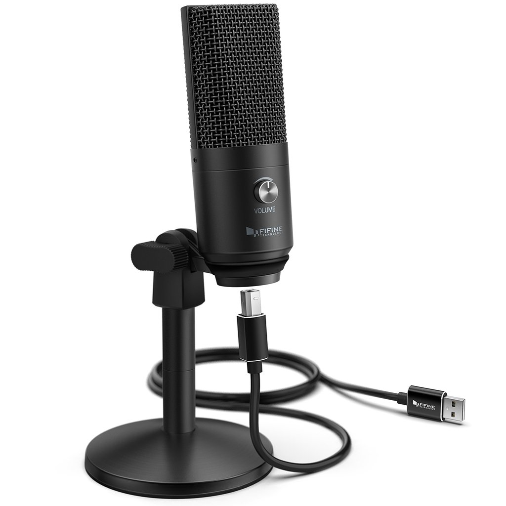 FIFINE K670B USB Mic with a Live Monitoring Jack for Streaming Podcasting on Mac/Windows Pro Audio FIFINE
