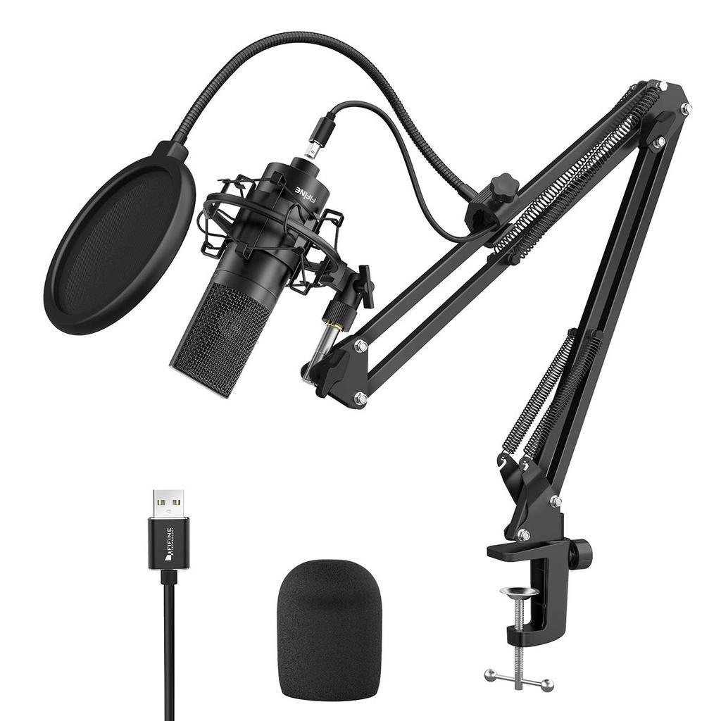 Fifine K780 Studio USB Microphone Kit With Arm Stand, Shock Mount, Pop Filter For Podcasting, Vocal Pro Audio FIFINE