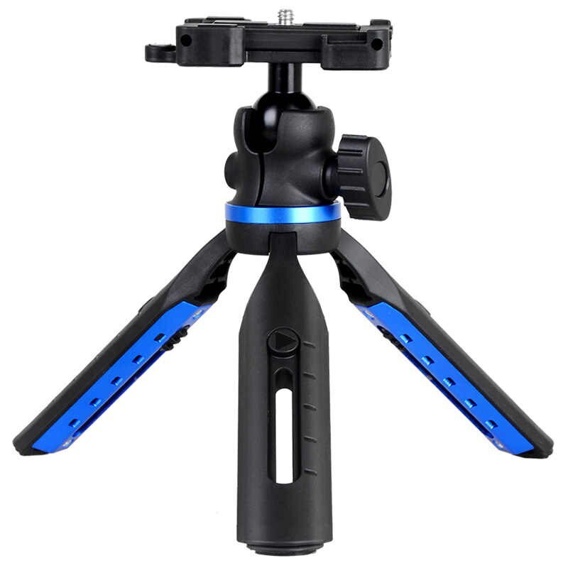 GIZOMOS GP-06ST 2 in 1 Mini Tabletop Tripode Portable Flexible Travel Outdoor Tripod for phones DSLRs Digital Camera Pro Video Gizomos
