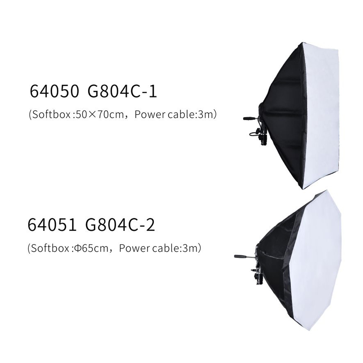 Nicefoto Digital Light Kits  KT-1301 50x70cm Softbox + Light Stand LS-220A + E27 Daylight Bulb 36W for Studio Photography Continuous Lighting Professional Lighting