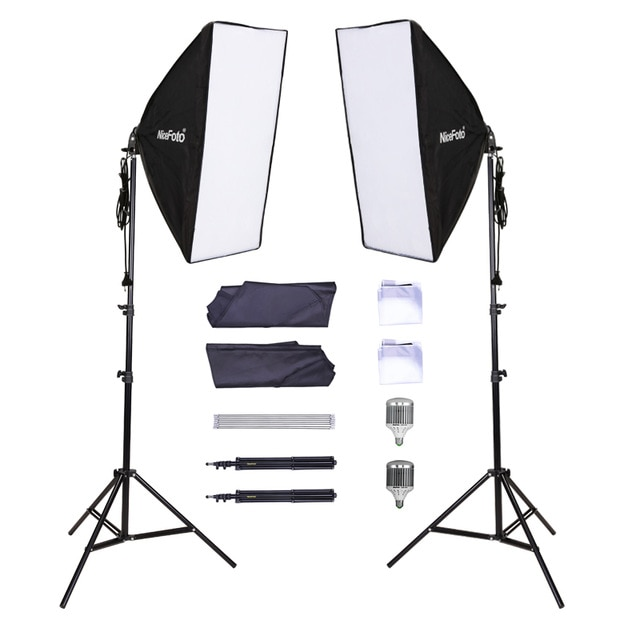 Nicefoto KT-1308 Professional 2 Light Kit LED 450 45W LED Lamp Set Continuous Lighting Professional Lighting