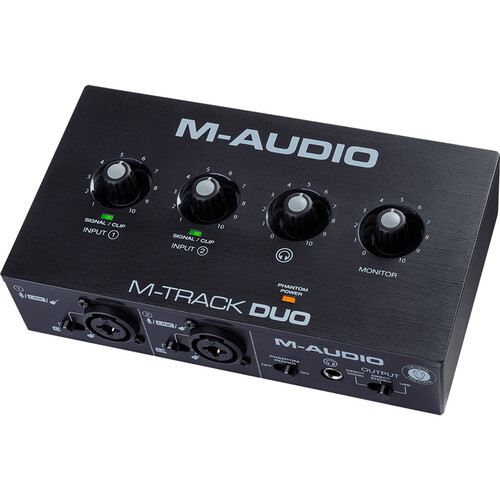 M-Audio M-Track Duo Desktop 2×2 USB Audio Interface Computer Audio M-Audio