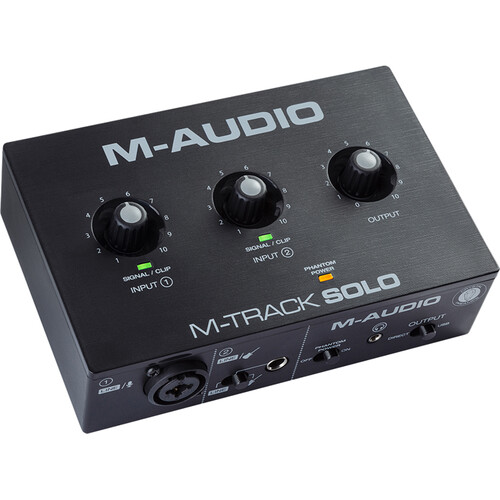 M-Audio M-Track Solo Desktop 2×2 USB Audio Interface Computer Audio M-Audio