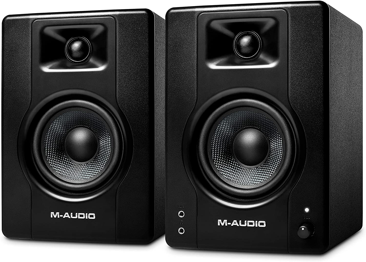 M-Audio BX4 – 120-Watt Powered Desktop Computer Speakers / Studio Monitors for Gaming, Music Production, Live Streaming and Podcasting (Pair) Pro Audio M-Audio