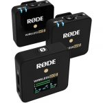 Rode Wireless GO II 2-Person Compact Digital Wireless Microphone System/Recorder (2.4 GHz, Black) Pro Audio Rode